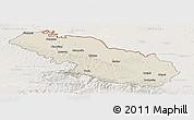 Shaded Relief Panoramic Map of Virovitica-Podravina, lighten