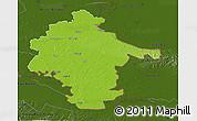 Physical 3D Map of Vukovar-Srijem, darken