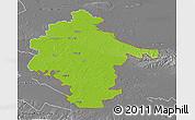 Physical 3D Map of Vukovar-Srijem, desaturated