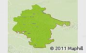 Physical 3D Map of Vukovar-Srijem, lighten