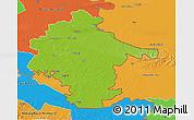Physical 3D Map of Vukovar-Srijem, political outside