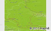 Physical 3D Map of Vukovar-Srijem