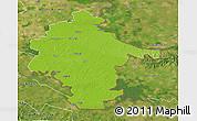 Physical 3D Map of Vukovar-Srijem, satellite outside
