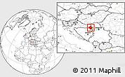 Blank Location Map of Vukovar-Srijem