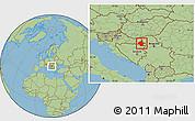 Savanna Style Location Map of Vukovar-Srijem