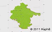 Physical Map of Vukovar-Srijem, cropped outside