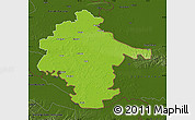Physical Map of Vukovar-Srijem, darken