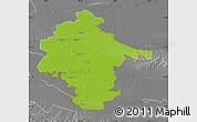 Physical Map of Vukovar-Srijem, desaturated