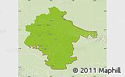 Physical Map of Vukovar-Srijem, lighten