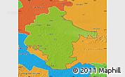 Physical Map of Vukovar-Srijem, political outside