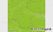 Physical Map of Vukovar-Srijem