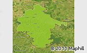 Physical Map of Vukovar-Srijem, satellite outside