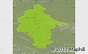 Physical Map of Vukovar-Srijem, semi-desaturated
