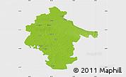 Physical Map of Vukovar-Srijem, single color outside