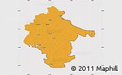Political Map of Vukovar-Srijem, cropped outside