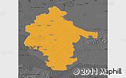 Political Map of Vukovar-Srijem, darken, desaturated