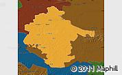 Political Map of Vukovar-Srijem, darken