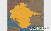 Political Map of Vukovar-Srijem, darken, semi-desaturated