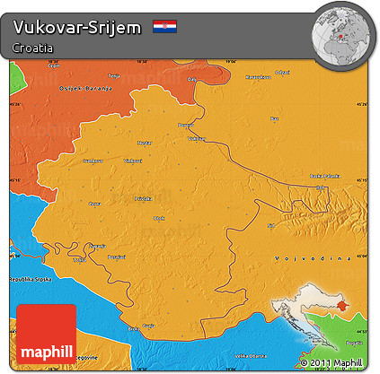 Political Map of Vukovar-Srijem