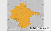 Political Map of Vukovar-Srijem, lighten, desaturated