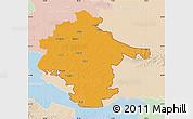 Political Map of Vukovar-Srijem, lighten