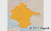 Political Map of Vukovar-Srijem, lighten, semi-desaturated