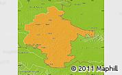 Political Map of Vukovar-Srijem, physical outside