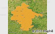 Political Map of Vukovar-Srijem, satellite outside