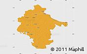 Political Map of Vukovar-Srijem, single color outside