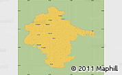 Savanna Style Map of Vukovar-Srijem, single color outside