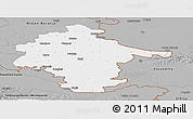 Gray Panoramic Map of Vukovar-Srijem