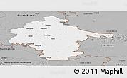 Gray Panoramic Map of Vukovar-Srijem