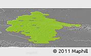 Physical Panoramic Map of Vukovar-Srijem, desaturated