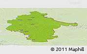 Physical Panoramic Map of Vukovar-Srijem, lighten