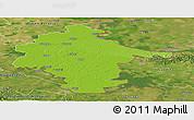 Physical Panoramic Map of Vukovar-Srijem, satellite outside