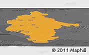 Political Panoramic Map of Vukovar-Srijem, darken, desaturated