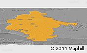 Political Panoramic Map of Vukovar-Srijem, desaturated