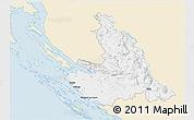 Classic Style 3D Map of Zadar-Knin, single color outside