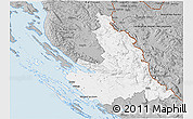 Gray 3D Map of Zadar-Knin