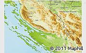 Physical 3D Map of Zadar-Knin