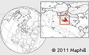 Blank Location Map of Zadar-Knin