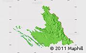 Political Map of Zadar-Knin, cropped outside