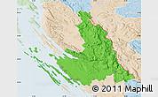 Political Map of Zadar-Knin, lighten