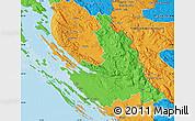 Political Map of Zadar-Knin