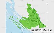Political Map of Zadar-Knin, single color outside