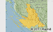 Savanna Style Map of Zadar-Knin