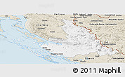 Classic Style Panoramic Map of Zadar-Knin