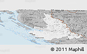 Gray Panoramic Map of Zadar-Knin