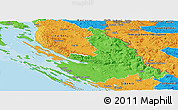 Political Panoramic Map of Zadar-Knin
