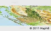 Satellite Panoramic Map of Zadar-Knin, physical outside